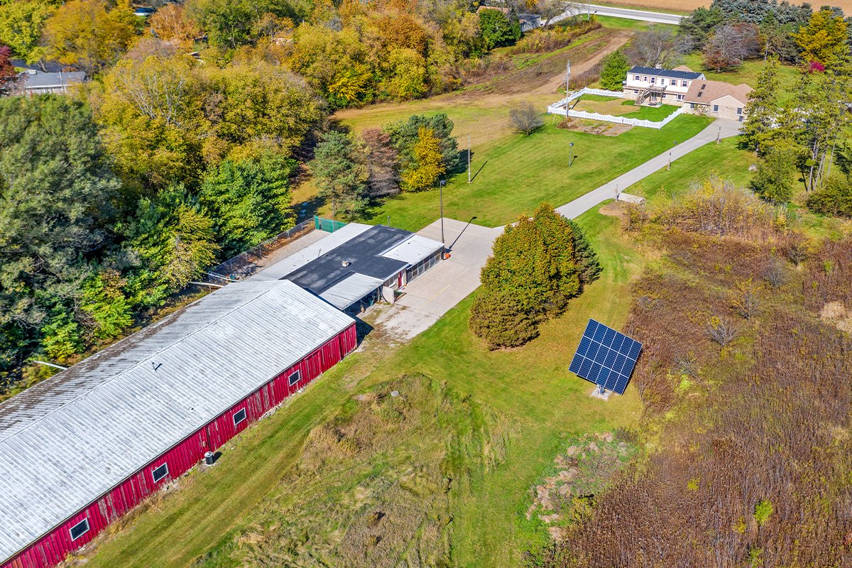 redwing kennels sussex photos aerial view of facility with solar red farm glazewski family background