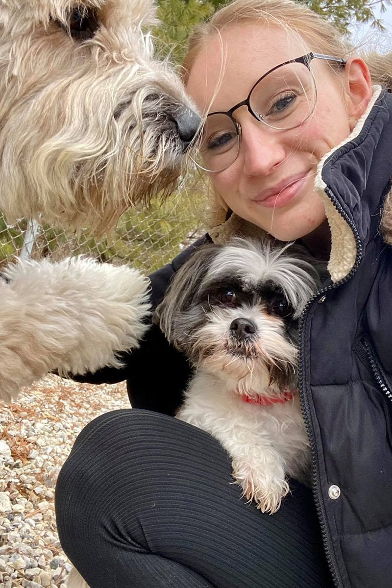 redwing kennels sussex photos owner alyssa with two dogs smiling and safe
